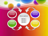 Colorful Flying Spheres PowerPoint Template#6