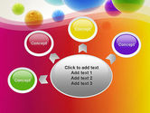 Colorful Flying Spheres PowerPoint Template#7