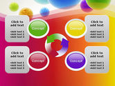 Colorful Flying Spheres PowerPoint Template#9