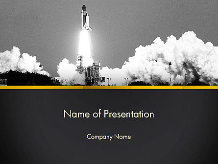 Technology and Science: Rocket Launch PowerPoint Template #13365
