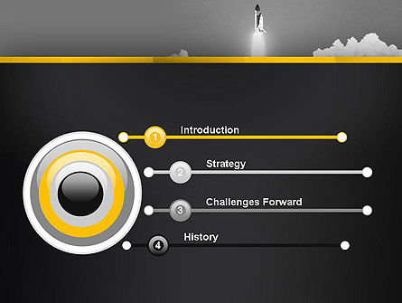 Rocket Launch PowerPoint Template, Slide 3, 13365, Technology and Science — PoweredTemplate.com