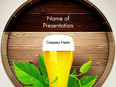Draft Beer PowerPoint Template, 13366, Food & Beverage — PoweredTemplate.com