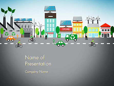 Nature & Environment: Nature Friendly Eco City PowerPoint Template #13367