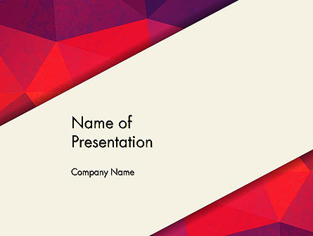 Abstract/Textures: Beige Stripe on Polygonal Background PowerPoint Template #13368