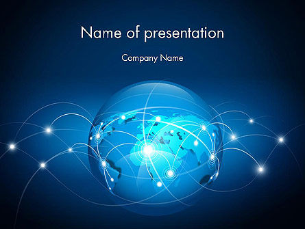 Abstract World Map PowerPoint Template, 13371, Global — PoweredTemplate.com