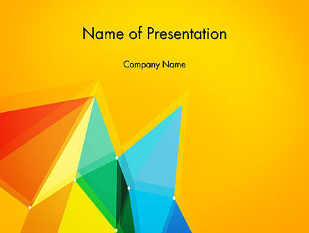 Vivid Polygonal Background PowerPoint Template, 13374, Abstract/Textures — PoweredTemplate.com