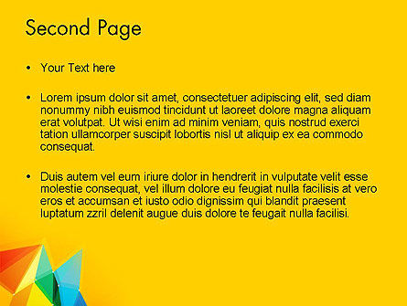 Vivid Polygonal Background PowerPoint Template, Slide 2, 13374, Abstract/Textures — PoweredTemplate.com