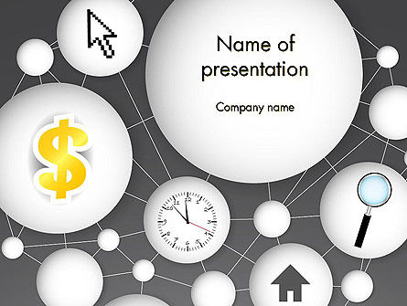 Bubble Network Abstract PowerPoint Template, 13375, Business Concepts — PoweredTemplate.com