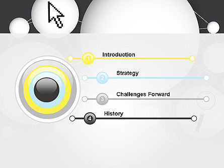 Bubble Network Abstract PowerPoint Template, Slide 3, 13375, Business Concepts — PoweredTemplate.com