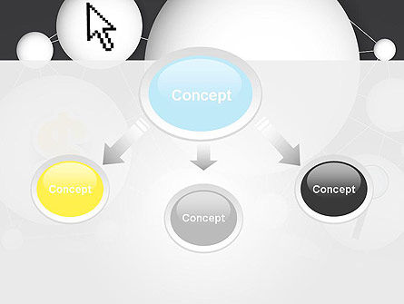 Bubble Network Abstract PowerPoint Template, Slide 4, 13375, Business Concepts — PoweredTemplate.com