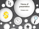 Business Concepts: Bubble Network Abstract PowerPoint Template #13375