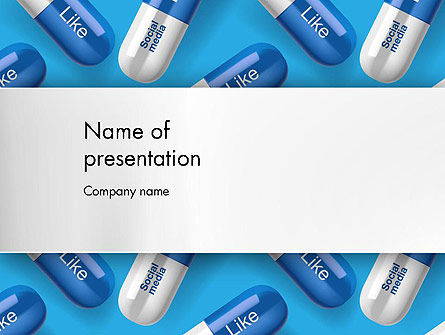 Social Pills PowerPoint Template, 13377, Consulting — PoweredTemplate.com