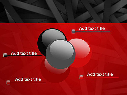 Abstract Black Overlapping Stripes PowerPoint Template Slide 10