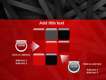 Abstract Black Overlapping Stripes PowerPoint Template Slide 16