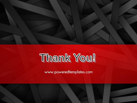 Abstract Black Overlapping Stripes PowerPoint Template Slide 20