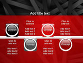 Abstract Black Overlapping Stripes PowerPoint Template#19