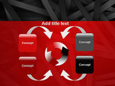 Abstract Black Overlapping Stripes PowerPoint Template#6