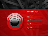 Abstract Black Overlapping Stripes PowerPoint Template#9