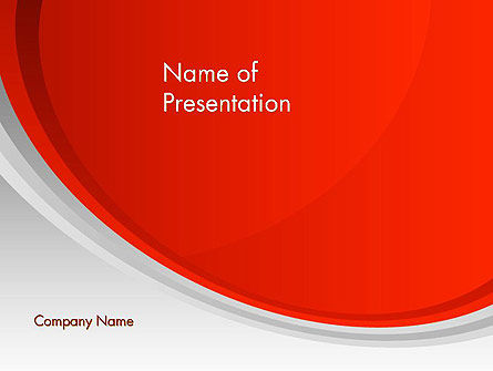 Red Abstract Quadrant PowerPoint Template