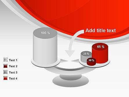 Red Abstract Quadrant PowerPoint Template Slide 10