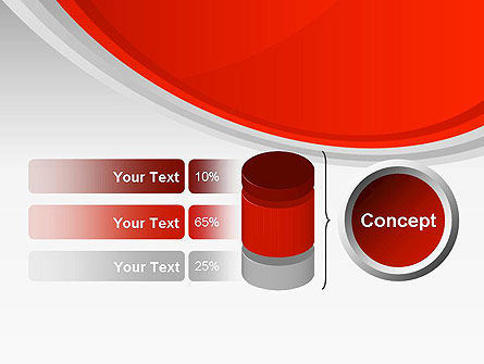 Red Abstract Quadrant PowerPoint Template Slide 11