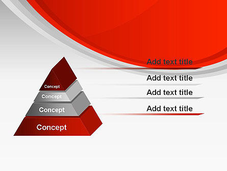 Red Abstract Quadrant PowerPoint Template Slide 12