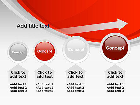 Red Abstract Quadrant PowerPoint Template Slide 13