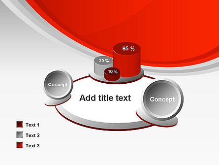 Red Abstract Quadrant PowerPoint Template Slide 16