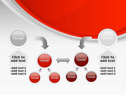 Red Abstract Quadrant PowerPoint Template Slide 19