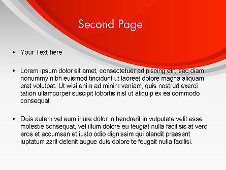 Red Abstract Quadrant PowerPoint Template Slide 2