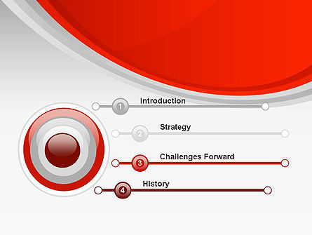 Red Abstract Quadrant PowerPoint Template Slide 3