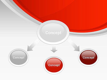 Red Abstract Quadrant PowerPoint Template Slide 4