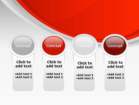 Red Abstract Quadrant PowerPoint Template Slide 5