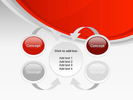 Red Abstract Quadrant PowerPoint Template Slide 6