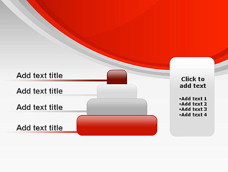 Red Abstract Quadrant PowerPoint Template Slide 8