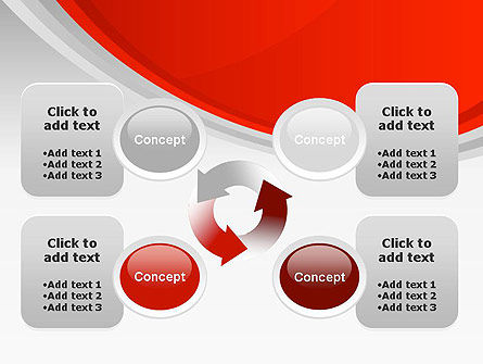 Red Abstract Quadrant PowerPoint Template Slide 9