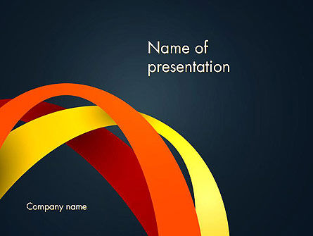 Abstract Vivid Arcs PowerPoint Template, 13382, Abstract/Textures — PoweredTemplate.com