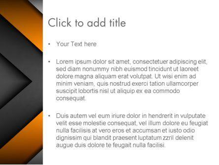 Abstract Right Directional Arrow PowerPoint Template, Slide 3, 13384, Business — PoweredTemplate.com
