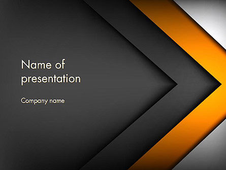 Business: Abstract Right Directional Arrow PowerPoint Template #13384