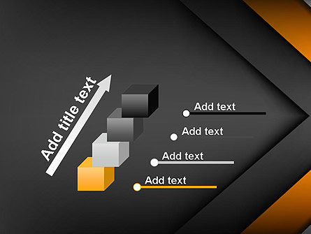 Abstract Right Directional Arrow PowerPoint Template Slide 14