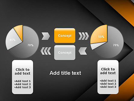 Abstract Right Directional Arrow PowerPoint Template Slide 16