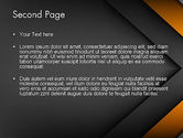 Abstract Right Directional Arrow PowerPoint Template#2