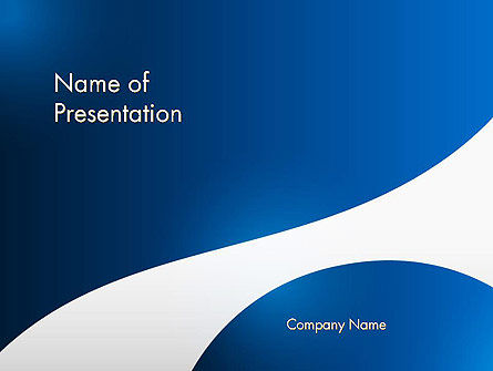 Abstract White Wave PowerPoint Template, 13385, Abstract/Textures — PoweredTemplate.com