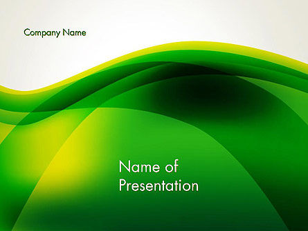 Green Abstract Surface PowerPoint Template