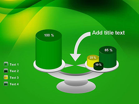 Green Abstract Surface PowerPoint Template Slide 10