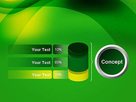 Green Abstract Surface PowerPoint Template Slide 11