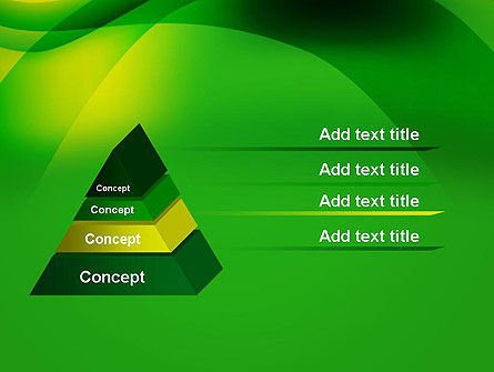 Green Abstract Surface PowerPoint Template Slide 12