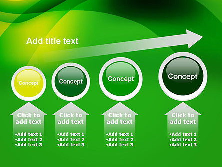 Green Abstract Surface PowerPoint Template Slide 13