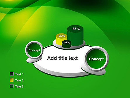 Green Abstract Surface PowerPoint Template Slide 16