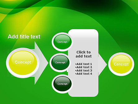 Green Abstract Surface PowerPoint Template Slide 17